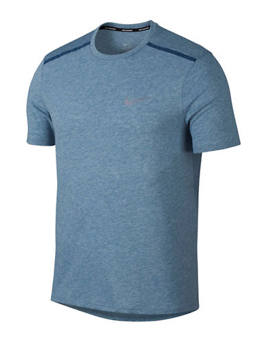 Nike Breathe Rise 365 Running Top-BLUE-Large