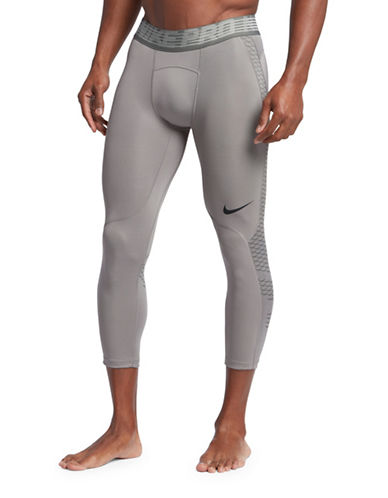 Nike Pro Hypercool Tights-GREY-Large