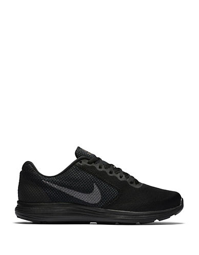 Nike Mens Revolution 3 Running Shoes-BLACK-10