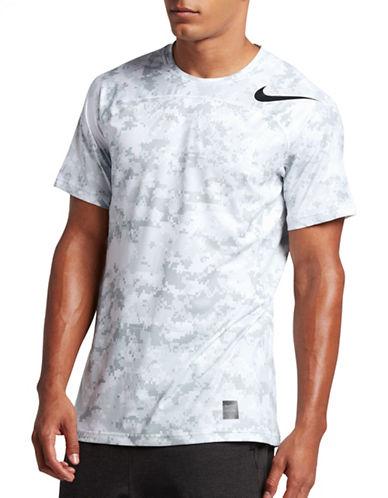 Nike Pro Hypercool Camo Printed Tee-WHITE-Medium 89157232_WHITE_Medium
