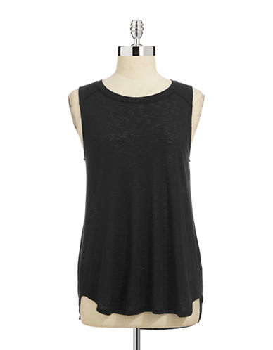Splendid Slub Knit Tank Top-BLACK-Medium