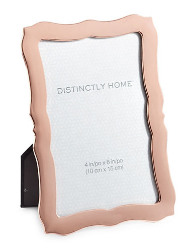 Distinctly Home Scalloped 4x6 Frame-ROSE GOLD-One Size