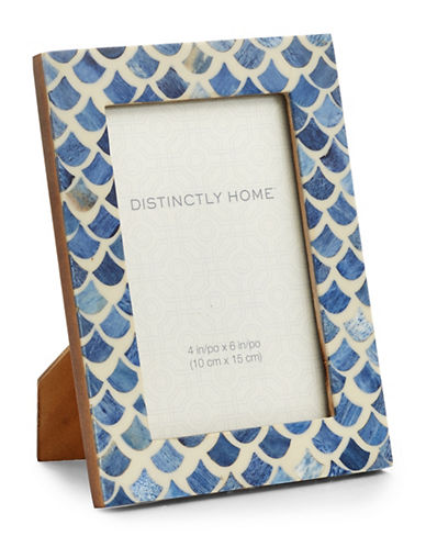 Distinctly Home Fish Scales Frame-BLUE-One Size