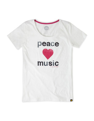Life Is Good Peace and Music T-Shirt-WHITE-XSmall 88796468_WHITE_XSmall