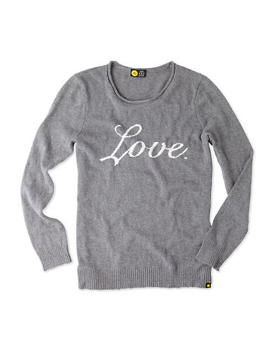 Life Is Good Intarsia Long Sleeve Sweater-GREY-X-Small 88796462_GREY_X-Small