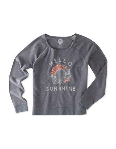 Life Is Good Hello Sunshine Marled Terry Sweatshirt-GREY-X-Large 88796523_GREY_X-Large