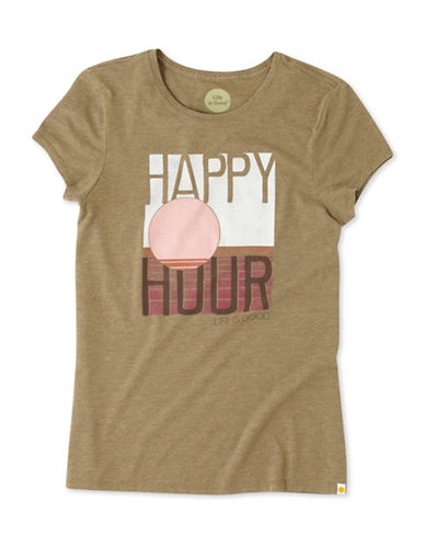 Life Is Good Happy Hour Sweet Tee-GREEN-X-Small 88796531_GREEN_X-Small