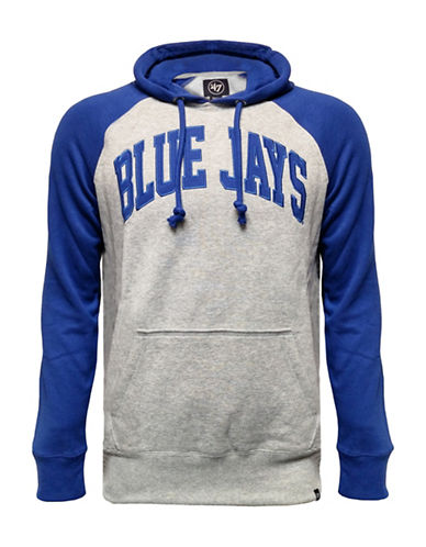 Majestic Toronto Blue Jays Raglan Fleece Sport Hoodie-BLUE-X-Large