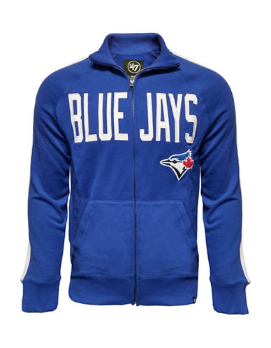 Majestic Toronto Blue Jays Sport Fleece Track Jacket-BLUE-X-Large 89365165_BLUE_X-Large