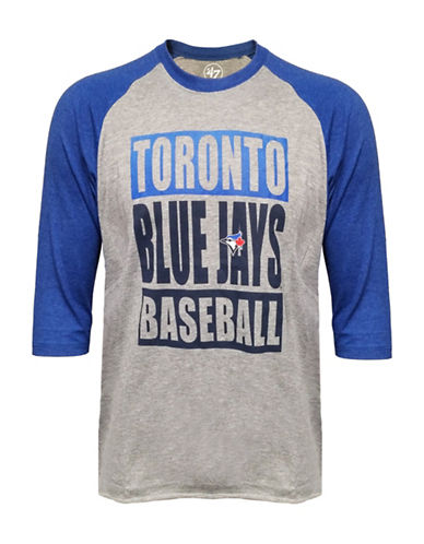 Majestic Toronto Blue Jays Club Raglan Tee-BLUE-Medium