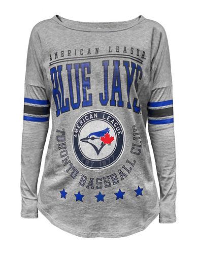 47 Brand Toronto Blue Jays Ladies Heather Courtside Tee-GREY-Medium