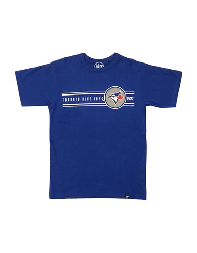 47 Brand Toronto Blue Jays Youth Rally 47 Flanker Tee-BLUE-Medium