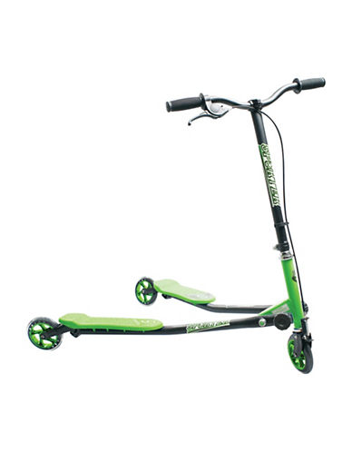 Sporter Three-Wheel Scooter-GREEN-One Size