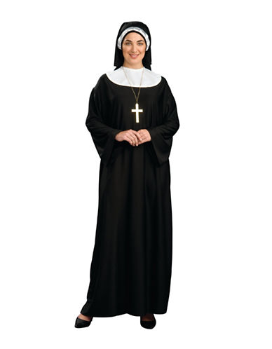 Rubies Costumes Womens Nun Costume-BLACK/WHITE-Medium