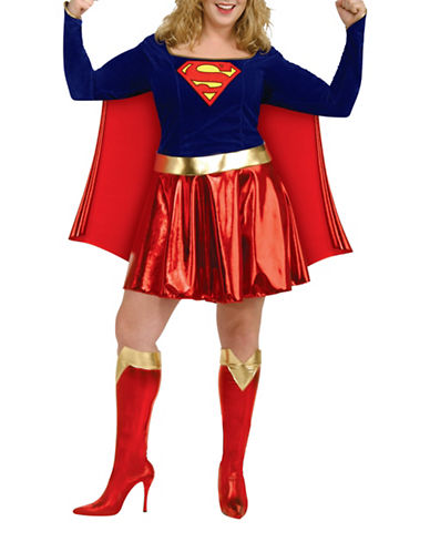 Rubies Costumes Womens Supergirl Costume-BLUE/RED-Medium