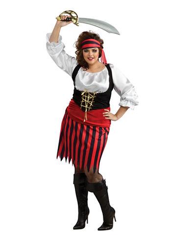 Rubies Costumes Womens Pirate Girl Costume-WHITE/BLACK/RED-Medium