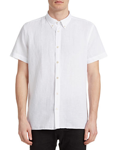 J. Lindeberg Ward Linen-Cotton Shirt-WHITE-Small