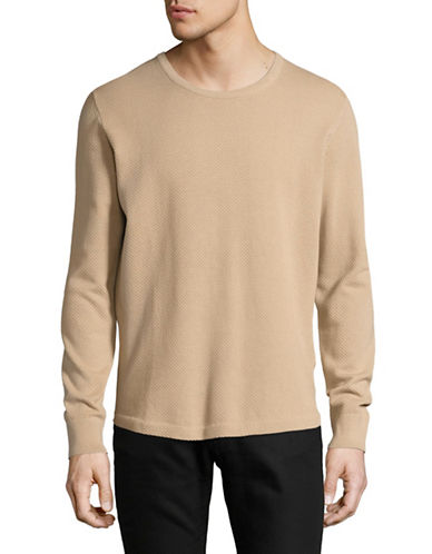 J. Lindeberg Hannes Micro Moss Stitch Sweater-SAND-Medium