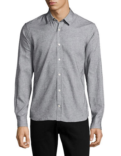 J. Lindeberg Daniel Slim-Fit Textured Sport Shirt-WHITE-Large