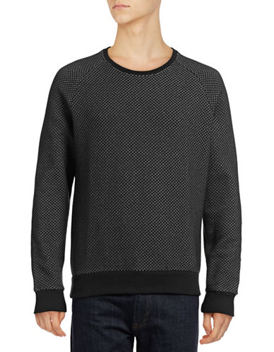 J. Lindeberg Chad Micro Quilted Crew Sweater-BLACK-Small 88922898_BLACK_Small