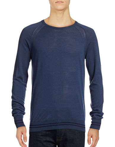 J. Lindeberg Andre Light Knit Merino Wool Sweater-BLUE-Large 88922908_BLUE_Large