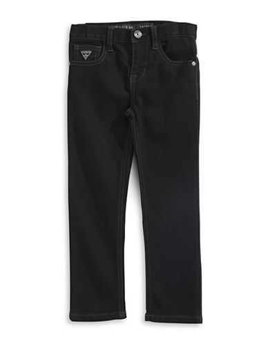 Guess Black Stretch Skinny Jeans-BLACK-6