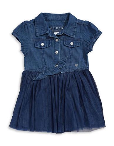 Guess Denim Tulle Dress-NAVY-18 Months