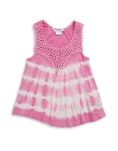 Guess Tie Dye Crocheted Tank-PINK-Large 88271879_PINK_Large
