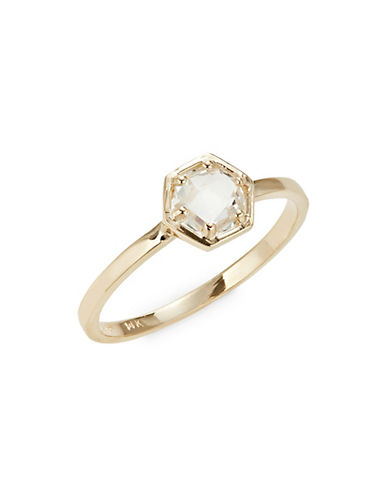 Bolt 14 K Gold And Topaz Mini Solitaire Ring by Jac + Jo