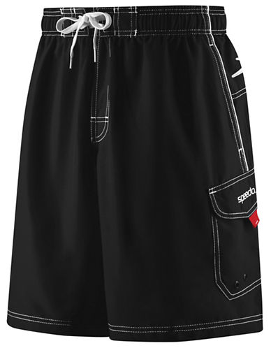 Speedo Speedo Mens Marina Water Short-BLACK-Large