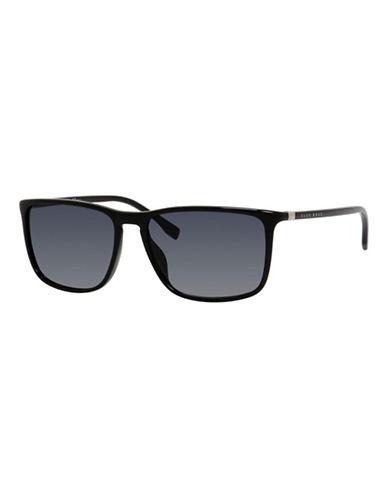Boss 57mm Classic Wayfarer Plastic Sunglasses-GREY-One Size