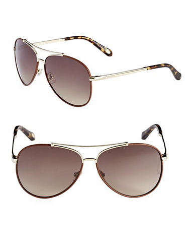 Fossil Two Tone 60mm Aviators-GOLD-One Size