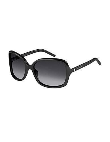 Marc Jacobs Tortoiseshell 57mm Square Sunglasses-BLACK-One Size