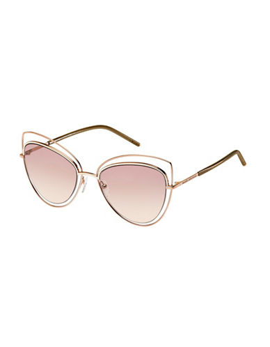 Marc Jacobs Rose Goldtone 56mm Cat-Eye Sunglasses-GOLD-One Size