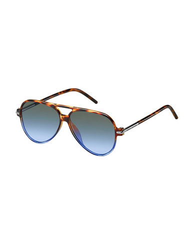 Marc Jacobs Tortoise 56mm Blue Aviators-BLUE-One Size