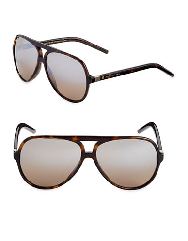 Marc Jacobs Dark Havana 61mm Rounded Sunglasses-BROWN-One Size