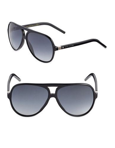 Marc Jacobs Dark Havana 61mm Rounded Sunglasses-BLACK-One Size