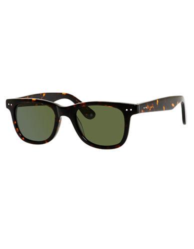 Polaroid Plastic Rectangle Sunglasses-HAVANA-One Size
