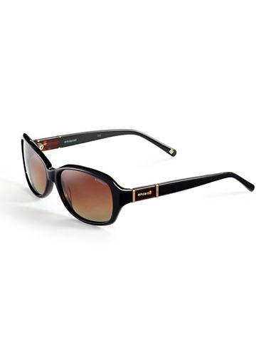 Polaroid Plastic Polarized Rectangular Sunglasses-BLACK (POLARIZED)-One Size