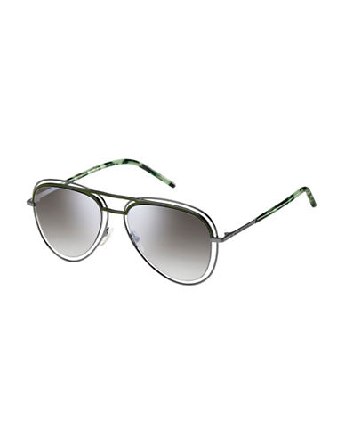 Marc Jacobs Shiny 54mm Aviators-GREY-One Size