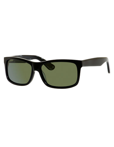 Polaroid Rectangle Plastic Frame Sunglasses-BLACK-One Size 86750626_BLACK_One Size