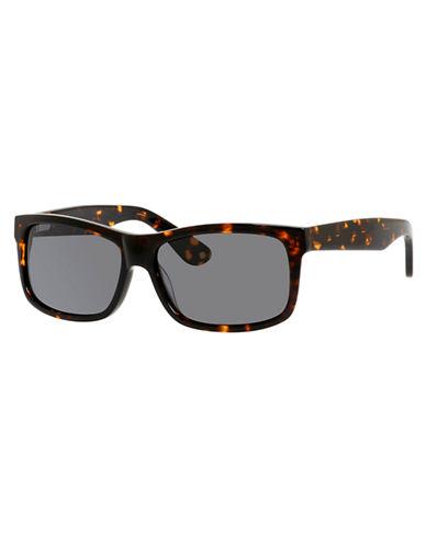 Polaroid Rectangle Plastic Frame Sunglasses-HAVANA-One Size
