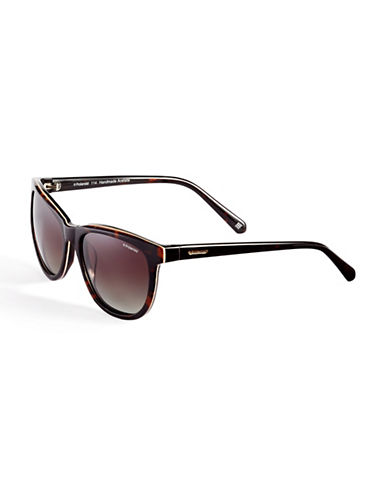 Polaroid Polarized Wayfarer Sunglasses-HAVANA BEIGE-One Size