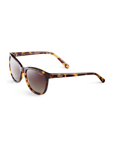 Polaroid Polarized Wayfarer Sunglasses-HAVANA-One Size