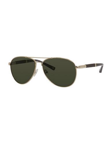 Polaroid Polarized Aviator Sunglasses-GOLD-One Size
