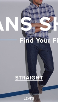 9daf6de9 Levi's straight-fit jeans darkwash blue jeans with blue plaid buttonup at  thebay.com. Levi's men's ...