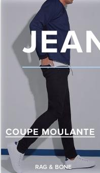 a79c7c9e7040a Jean moulant noir Rag   Bone, veste bleu foncé et chaussures sport basses  blanches à