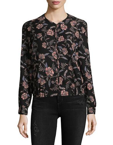 Ivanka Trump Floral Bomber Jacket-BLACK/BLUSH-4