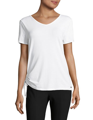 Ivanka Trump Cold-Shoulder T-Shirt-WHITE-X-Small 89372404_WHITE_X-Small