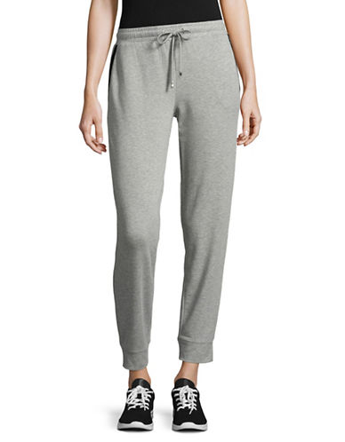 Ivanka Trump Relaxed Cuffed Sweatpants-GREY-Medium